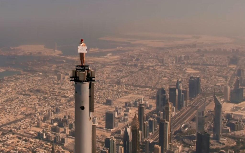 Die höchste Kampagne der Welt - Emirates Burj Khalifa (Foto: Emirates)