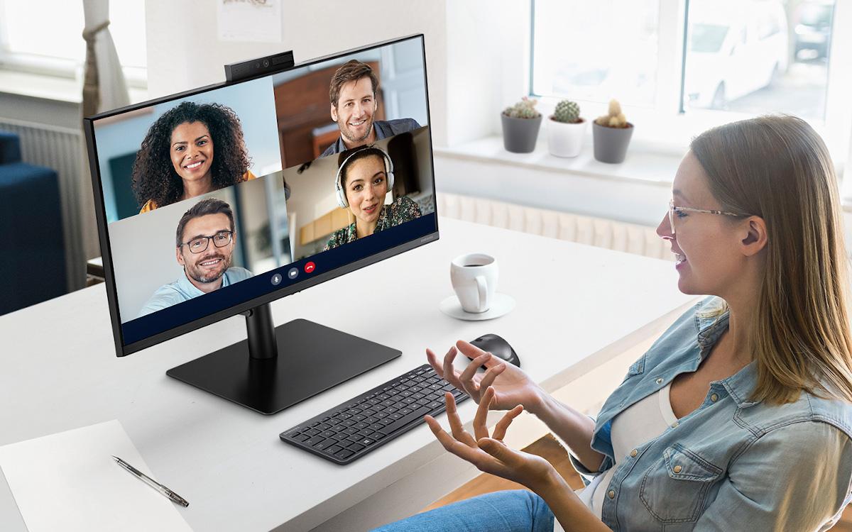 Neuer Samsung Business Desktop S4 mit Webcam (Foto: Samsung)