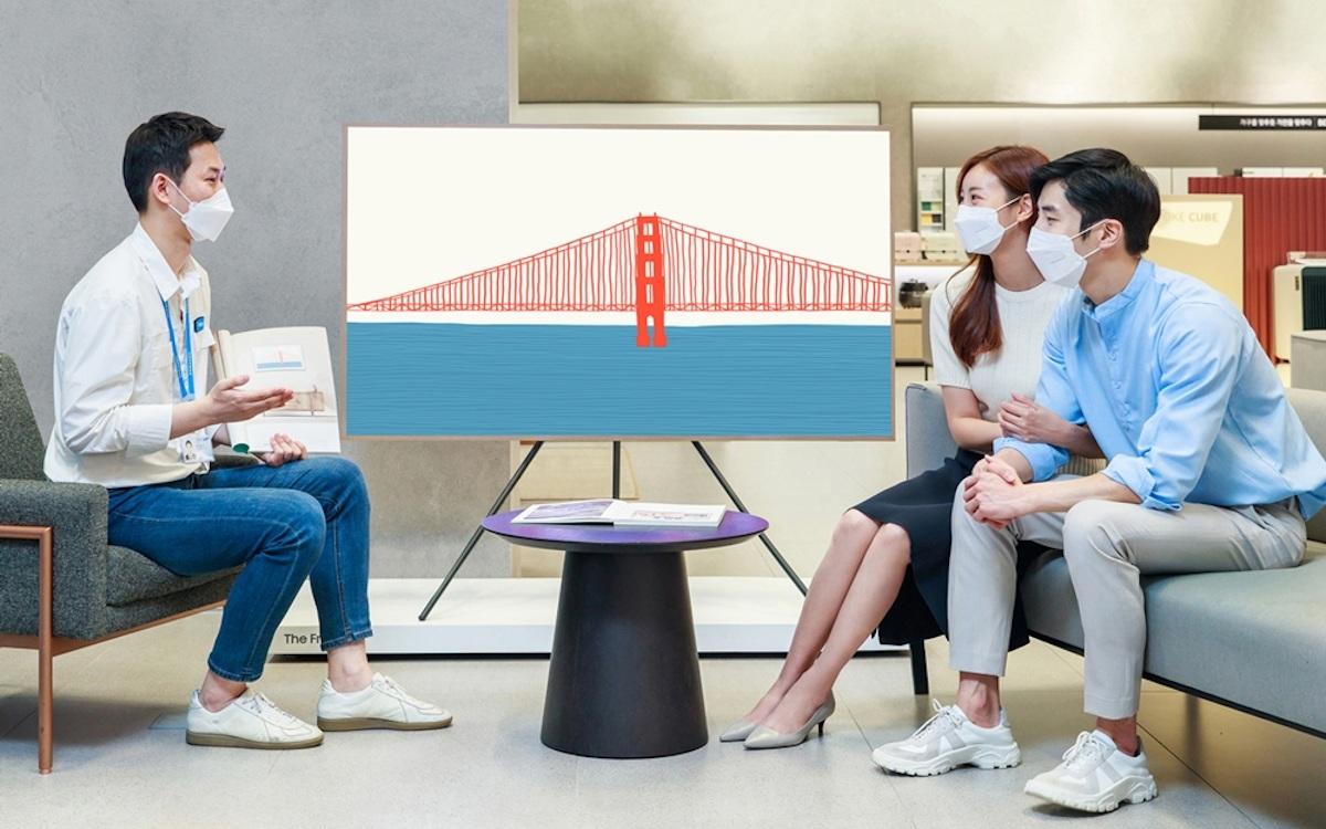 """Besonders beliebt - zur Hochzeit in Korea ein The Frame in 75"""" (Foto: Samsung)"""
