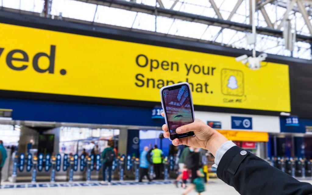 Snapchat DooH-Kampagne entwickelt von Talon und JCDecaux (Foto: Talon)