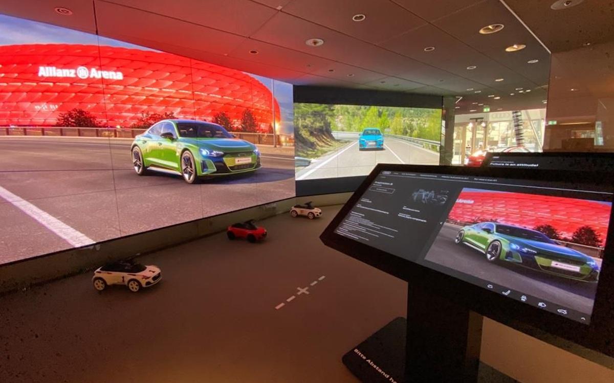 Seit 9 Jahren im Einsatz - Audi Multi Touch Table (MTT) beim FC Bayern (Foto: Audi)