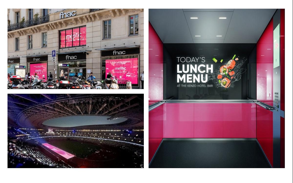 Retail Media, DooH in Aufzügen und Projection Mapping (Fotos: diverse)