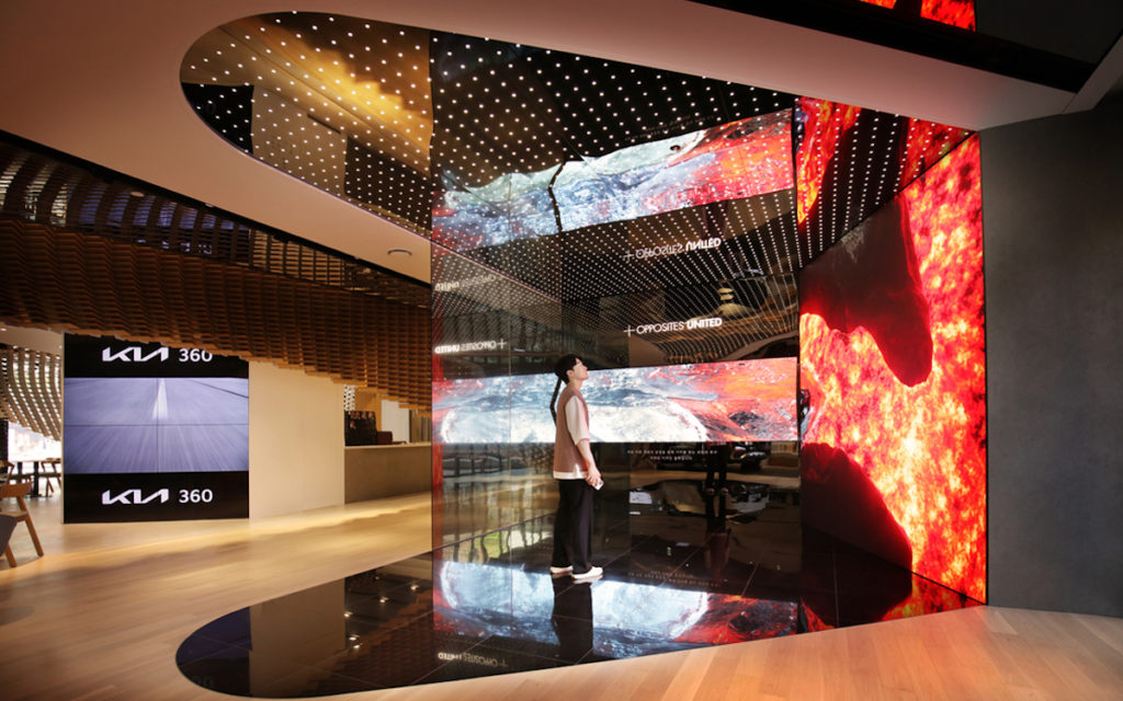 Digitale Experiences im Kia 360 Showroom in Seoul (Foto: Kia)