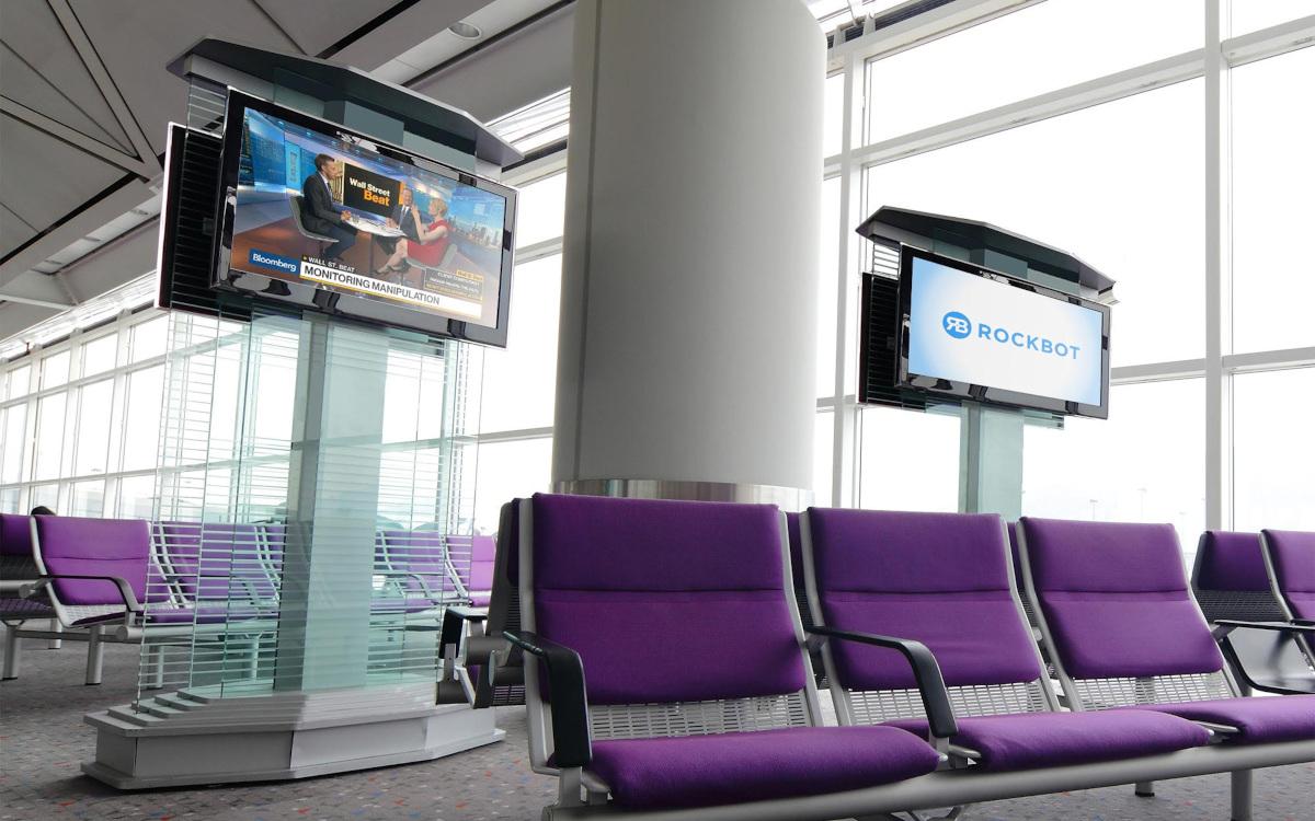 Rockbot Airport TV mit Brightsigh (Foto: Rockbot)