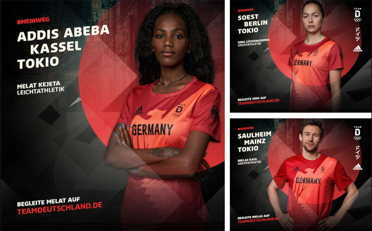Mein Weg Olympiahelden Kampagne (Fotos: Team Deutschland)