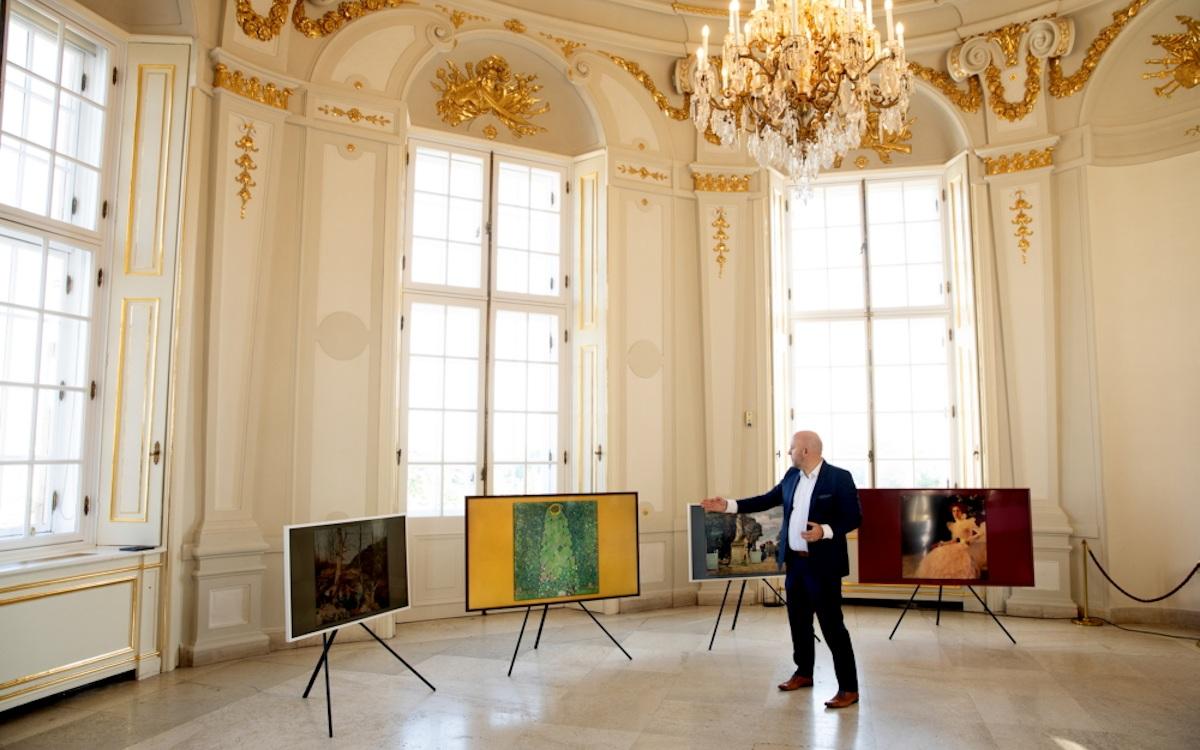 Samsung The Frame nun auch mit Belvedere Kunst (Foto: Samsung)