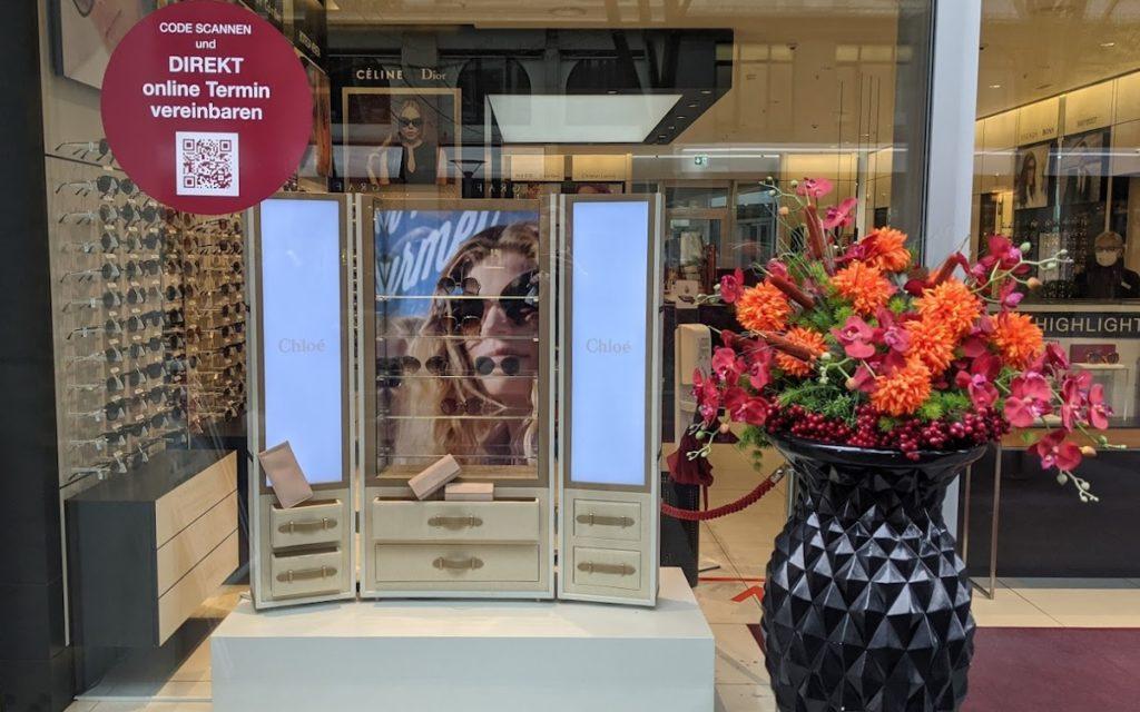 Luxusmarken suchen individuelle Displaylösungen - Chloe in Zürich (Foto: invidis)