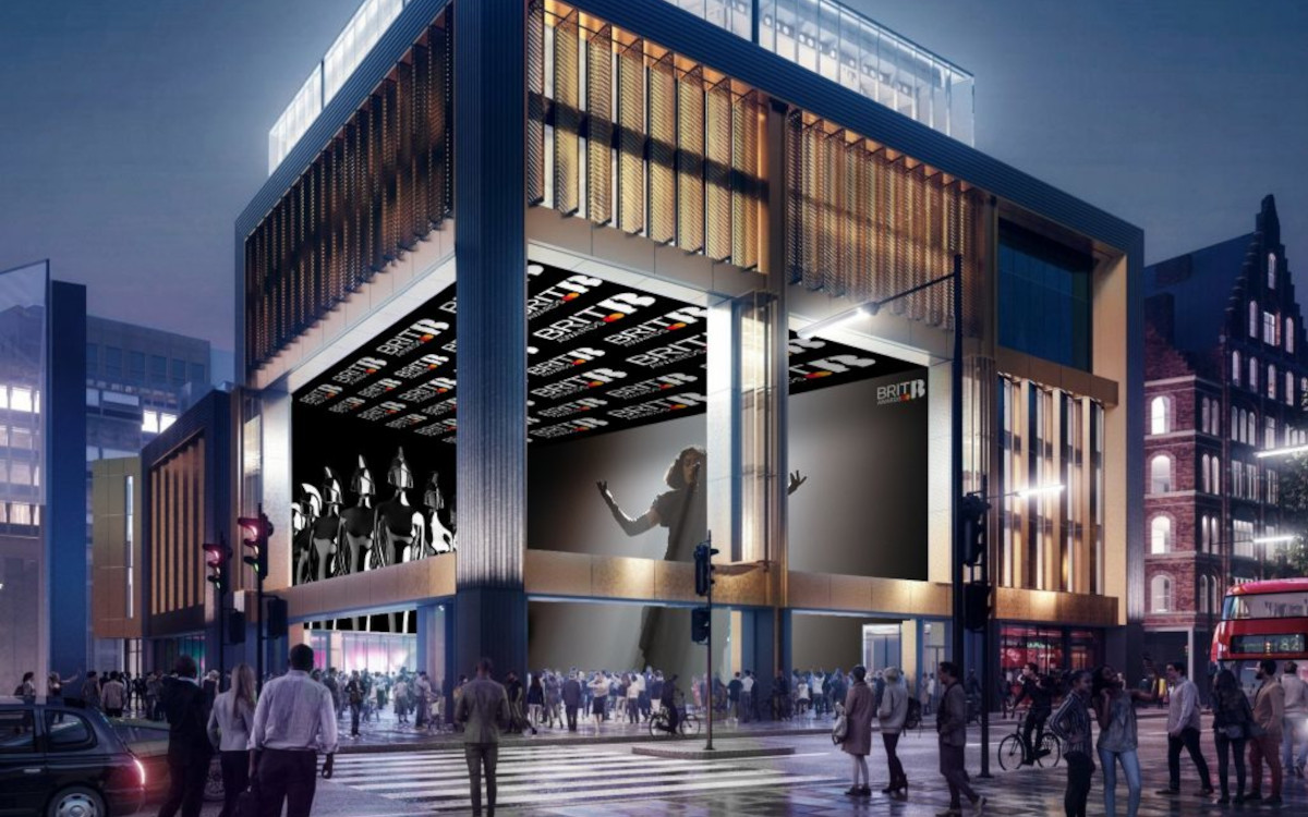 Im Now-Building werden mehr als 2.000 Quadratmeter LED-Leinwand verbaut sein. (Foto: Outernet)