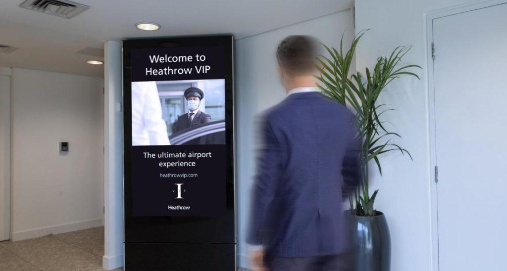 Insgesamt verbaute JCDecaux sechs Displays in den VIP-Räumen. (Foto: JCDecaux UK)