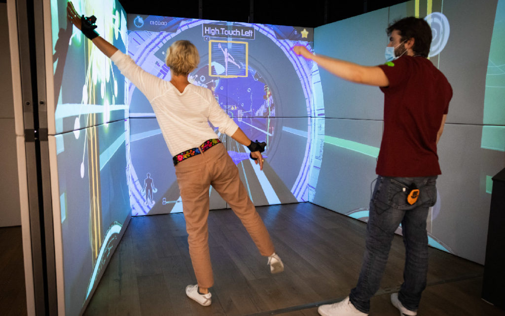 Gamer Exercube is an interactive display app (Photo: FDFA, Presence Switzerland)