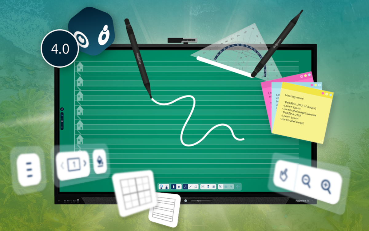Mit dem neuesten Softwareupdate von Pronote können nun mehrere Personen gleichzeitig an den interaktiven Whiteboards arbeiten. (Bild: Prowise B.V.)