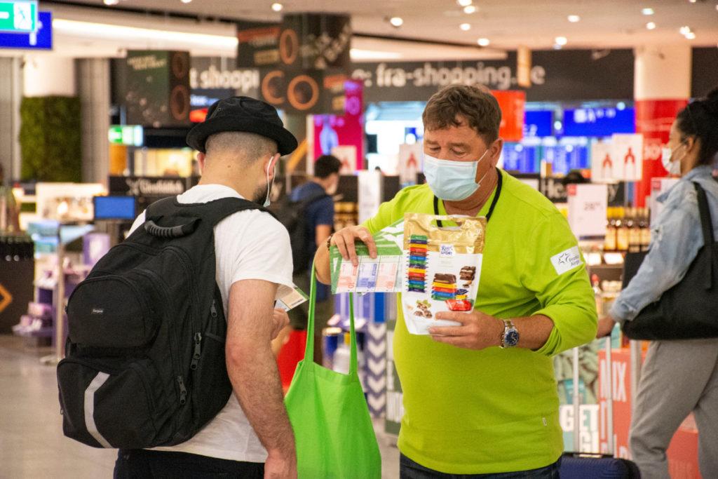 Auch eine klassische Promotion-Aktion war im Kampagnenmix von Ritter Sport enthalten. (Foto: Frankfurter Flughafen)