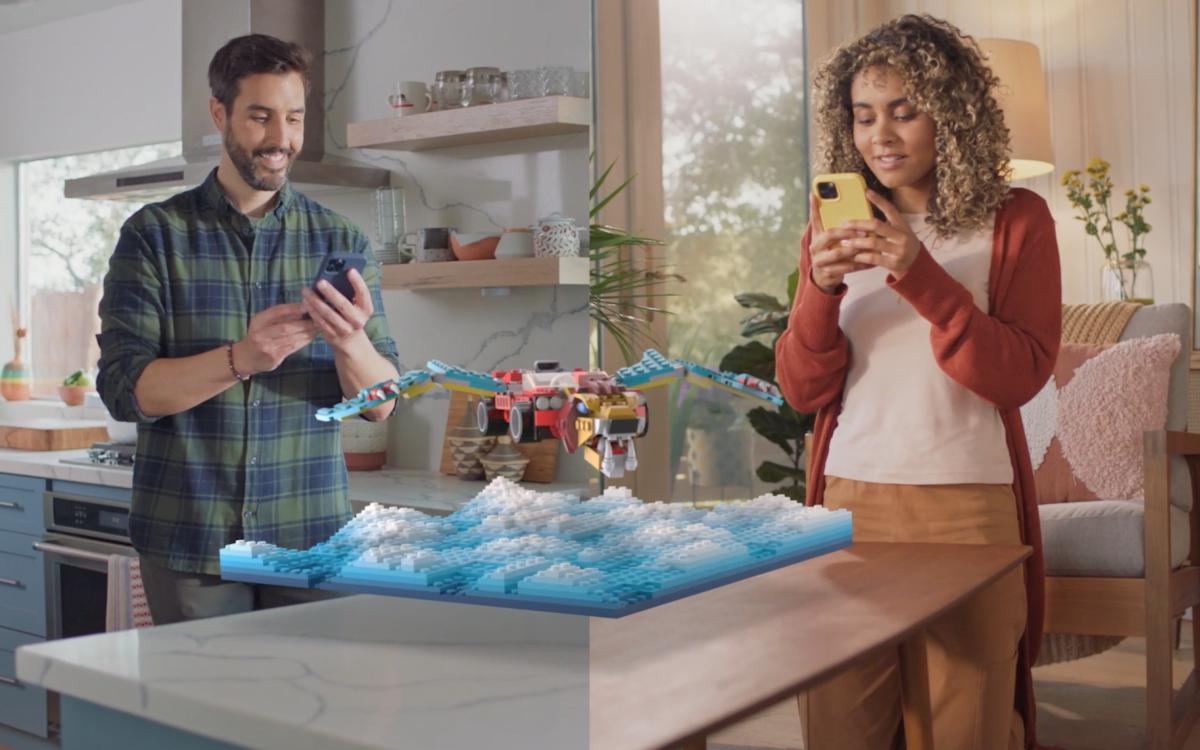 Snapchat erweitert die AR-Optionen für Unternehmen – dies nutzt beispielsweise Lego. (Bild: Snapchat)