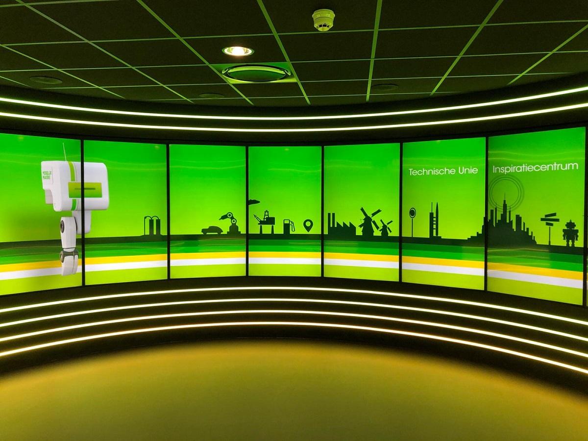 Die DS-Hauptattraktion im Experience Center von Technische Unie ist ein Multi-Screen-Display. (Foto: PPDS)