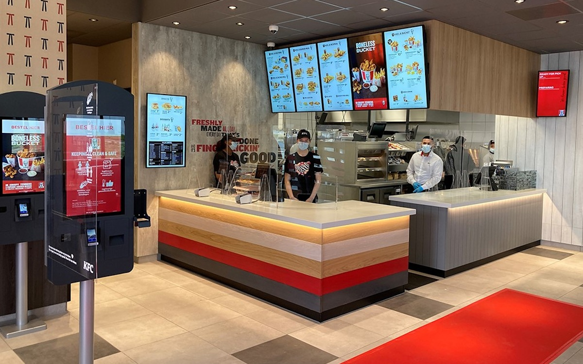Neue Digital Signage Menüboards für KFC BeNeLux (Foto: KFC)