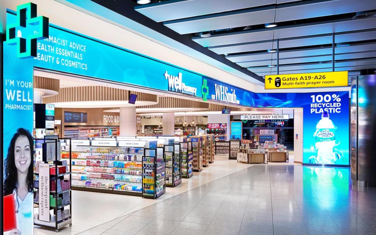 Pixel Projekt am Flughafen London Heathrow (Foto: WH Smith)