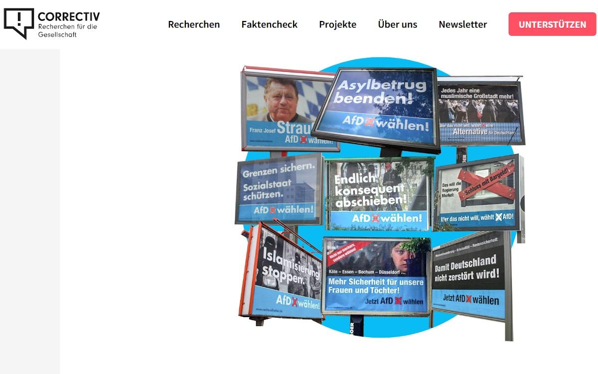 Unbekannte AfD-Unterstützer buchten Kampagnen bei Ströer (Foto: Screenshot)