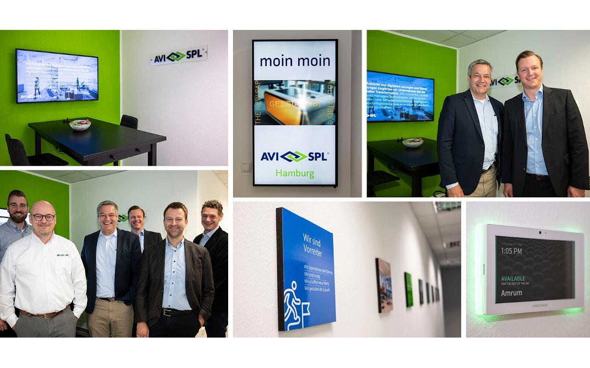 Hoher Besuch zur Eröffnung von AVI-SPL in Hamburg (Foto: AVI-SPL)
