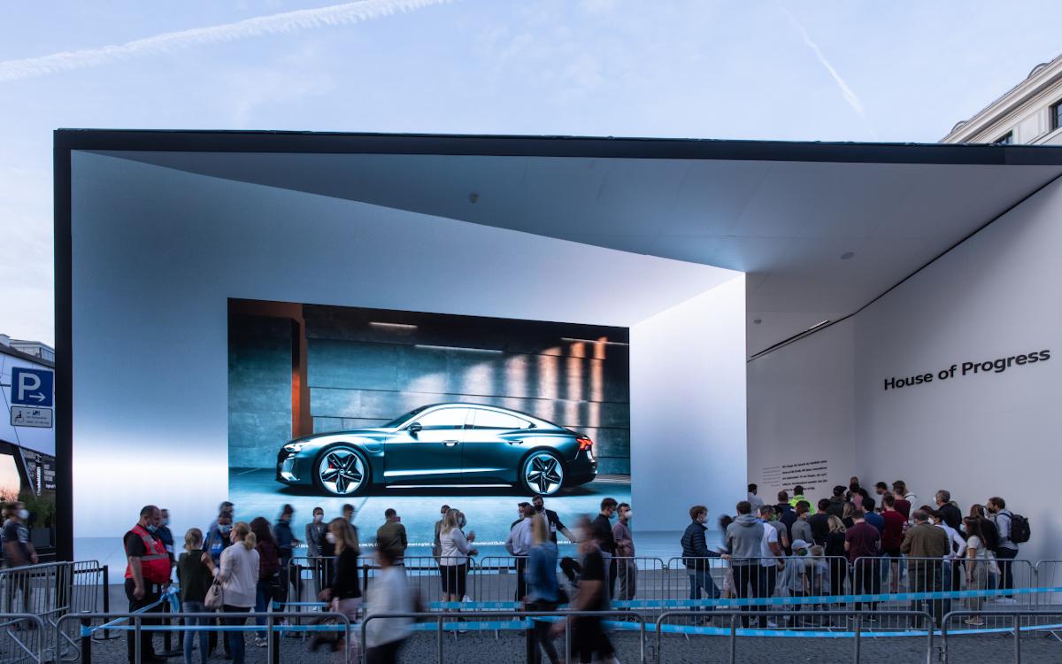 Audi IAA-Messestand in der Münchner Innenstadt (Foto: Audi)