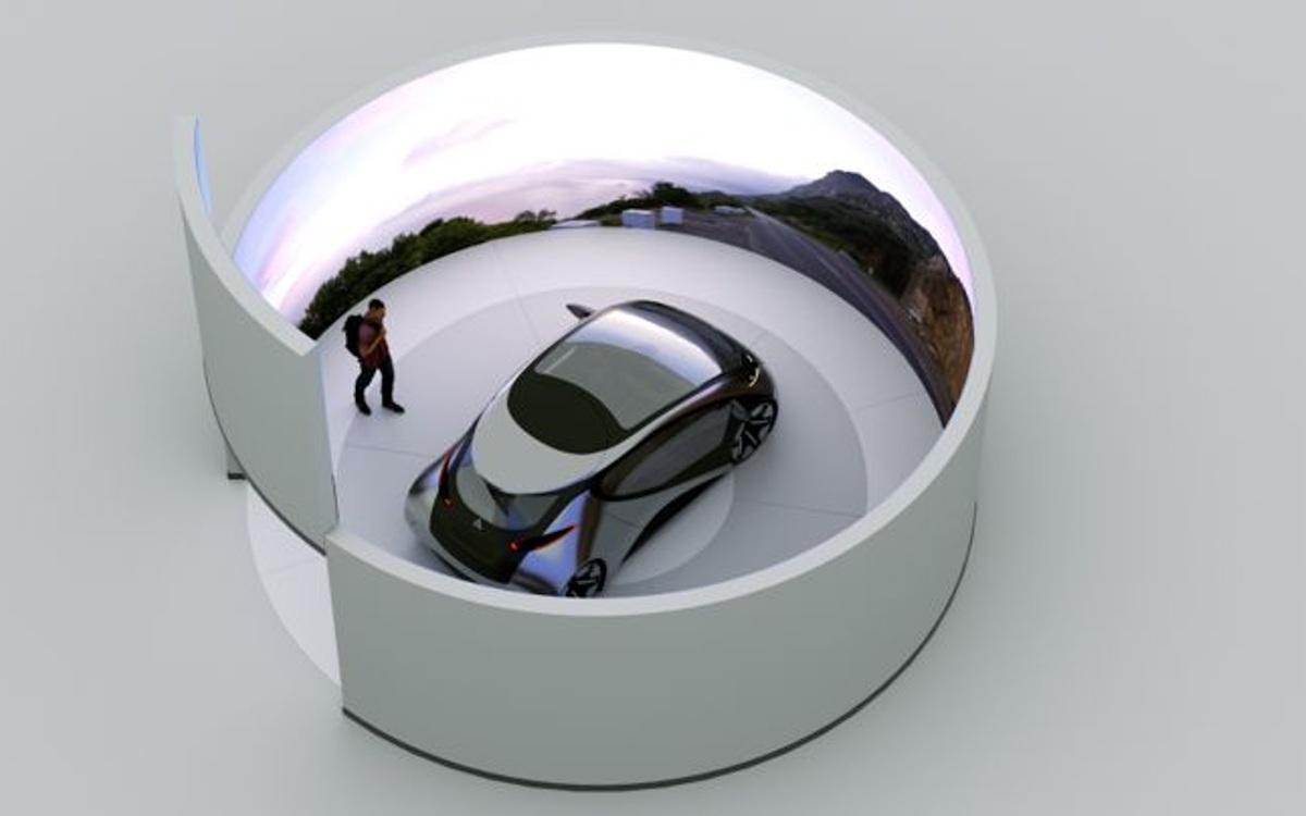LED Fahrsimulator der BMW Group (Foto: ICT)