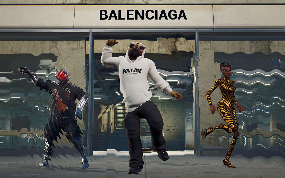 Balenciaga entwickelt Content für Game und DooH gemeinsam (Foto: Epic)