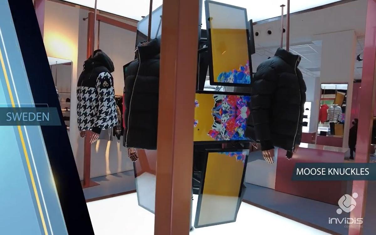 Digital Signage in Fashion - Best Practice aus Stockholm (Foto: invidis)