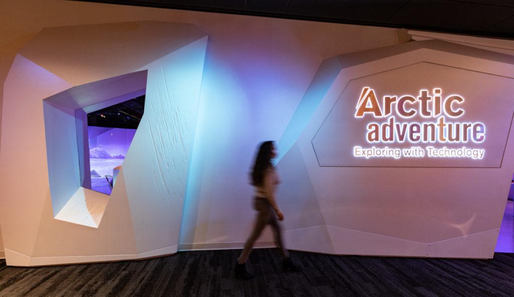 "Die Ausstellung ""Arctic Adventure"" im Boston Museum of Science (Foto: Moment Factory)"