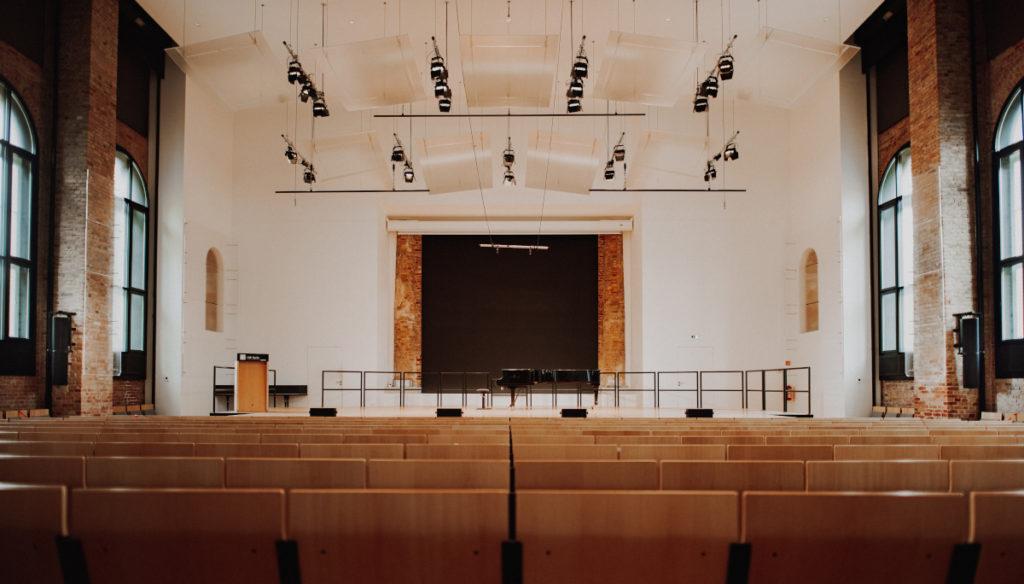ASC modernisierte einen Konzertsaal der Universität der Künste in Berlin. (Foto: Christoph Eisenmenger)