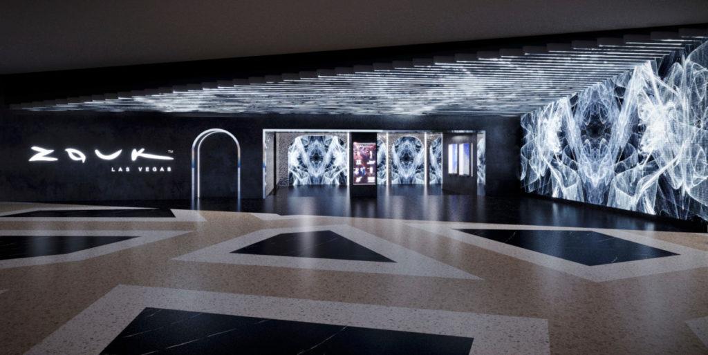 Pintu masuk ke klub malam Zouk (Foto: Worlds Resort Las Vegas)