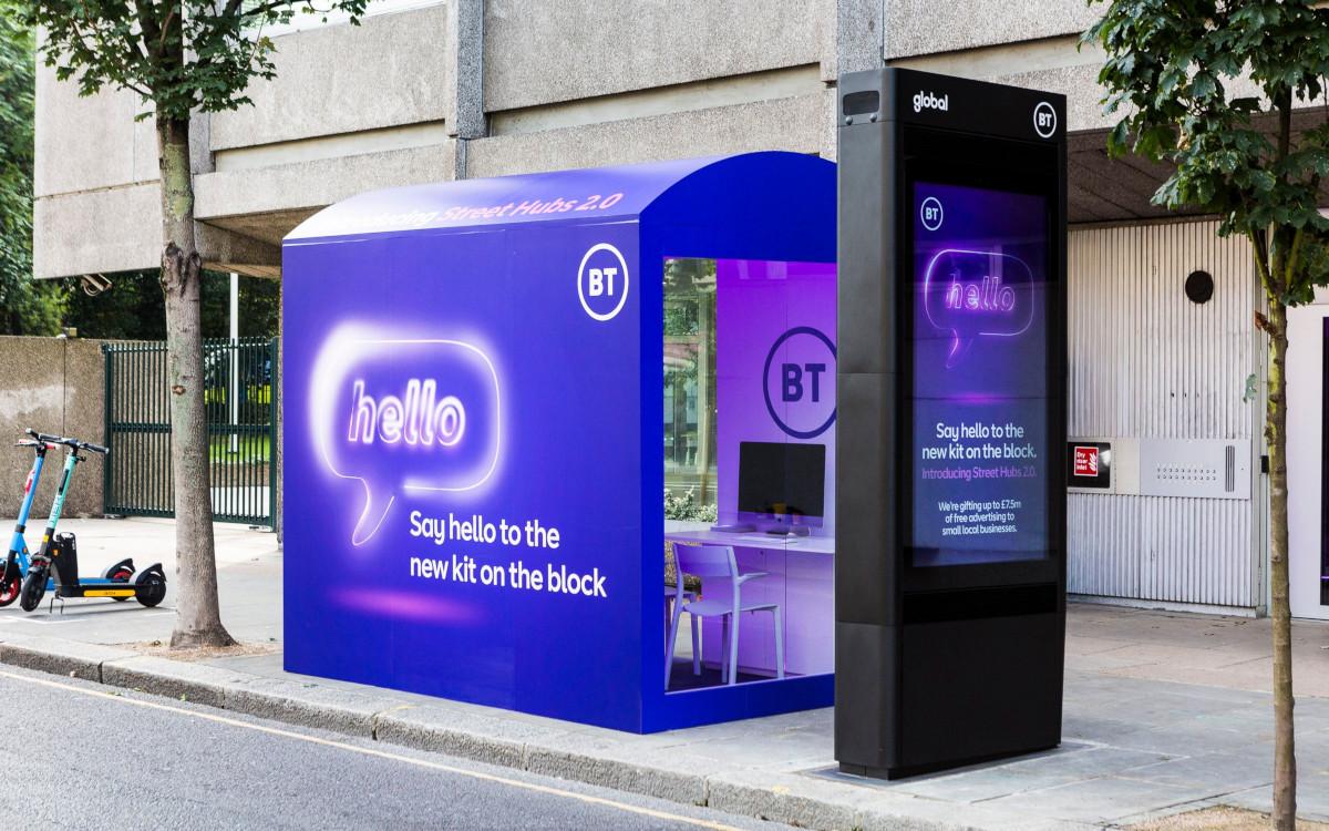 Mit einer kostenlosen Design-Aktion für digitale Werbung machte BT auf den Roll-out von Street Hub 2.0 aufmerksam. (Foto: BT)