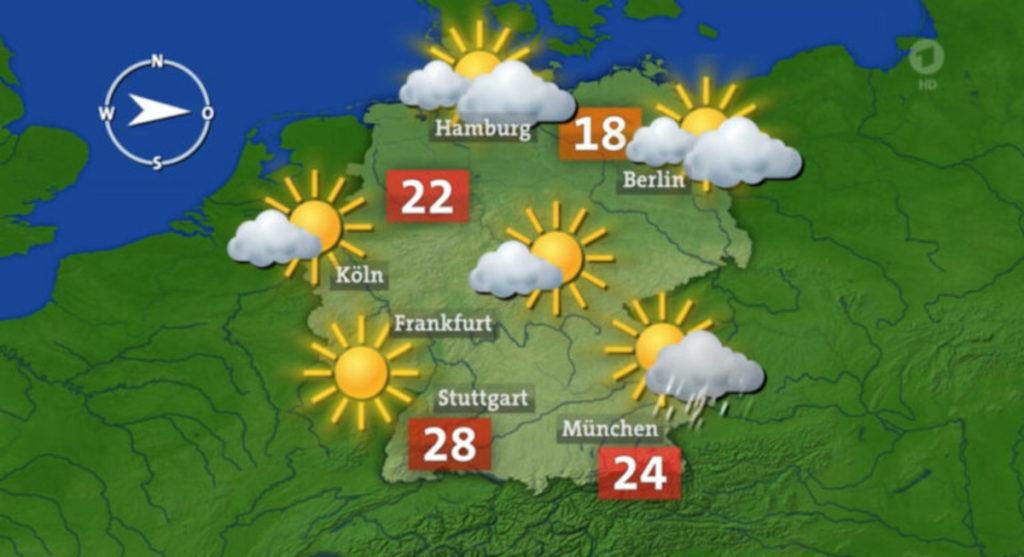Auch das Tagesschau-Wetter ist verfügbar. (Bild: mirabyte)