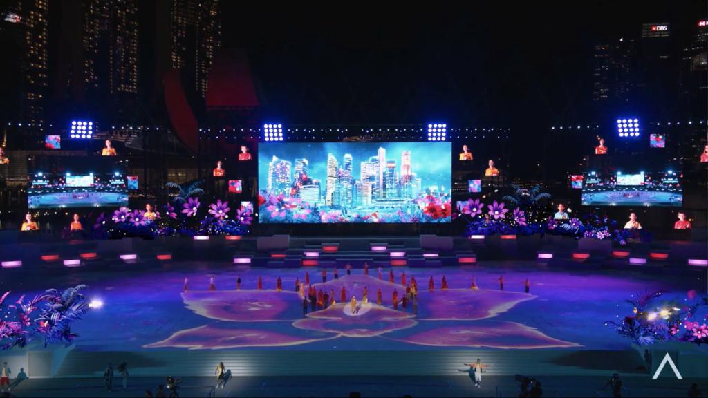 Show zum Singapore National Day 2021 (Foto: Pixotope/NDP)