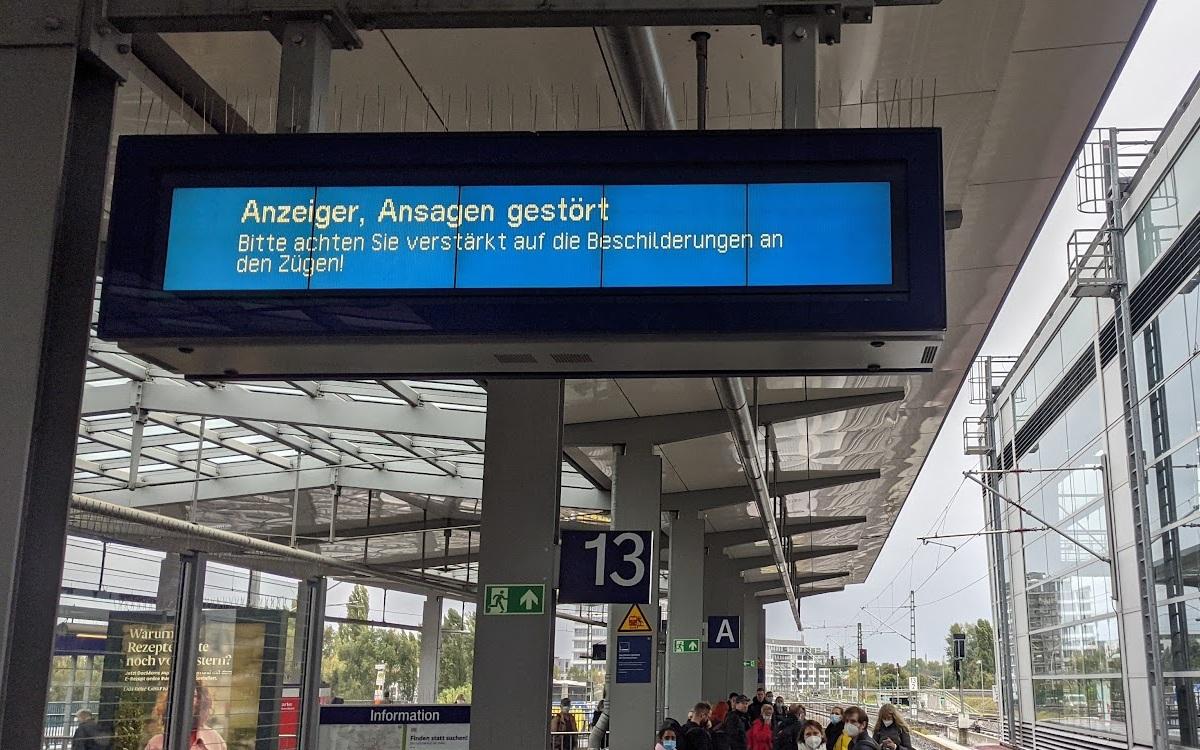 Nix geht mehr bei der Reisendeninformation (Foto: invidis)
