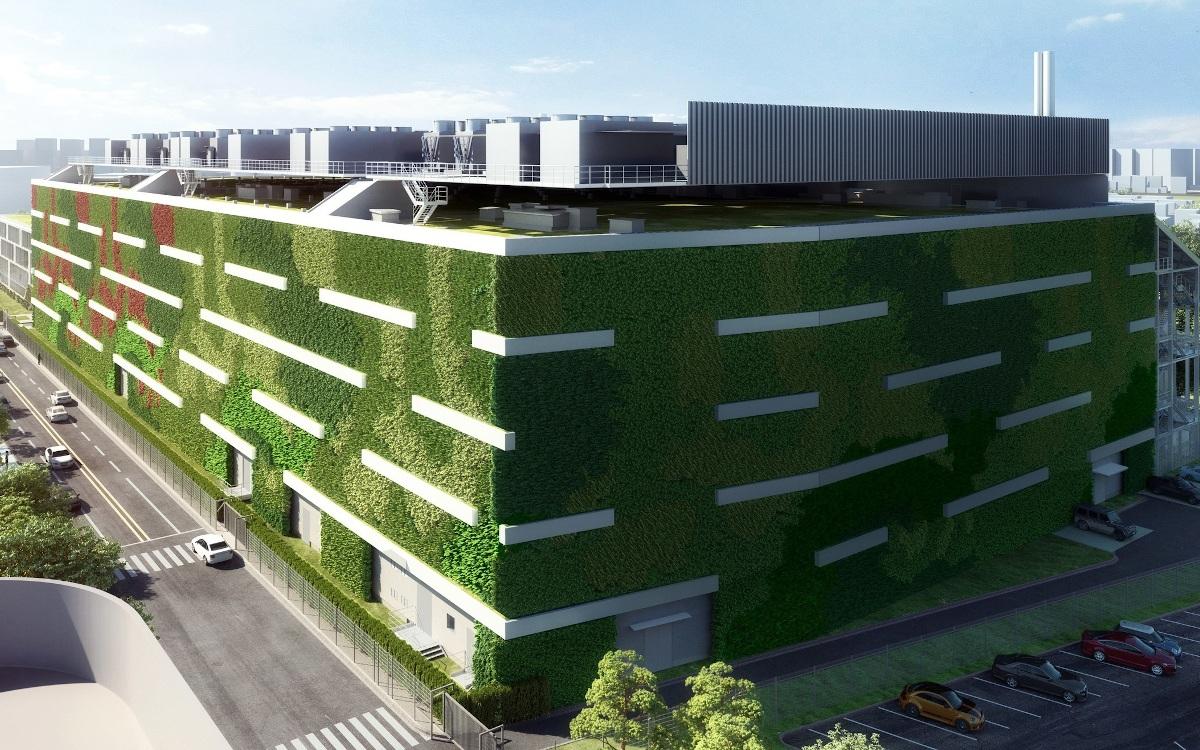 Grünes Rechenzentrum mitten in Frankfurt/Main (Modell; Foto: Equinix)