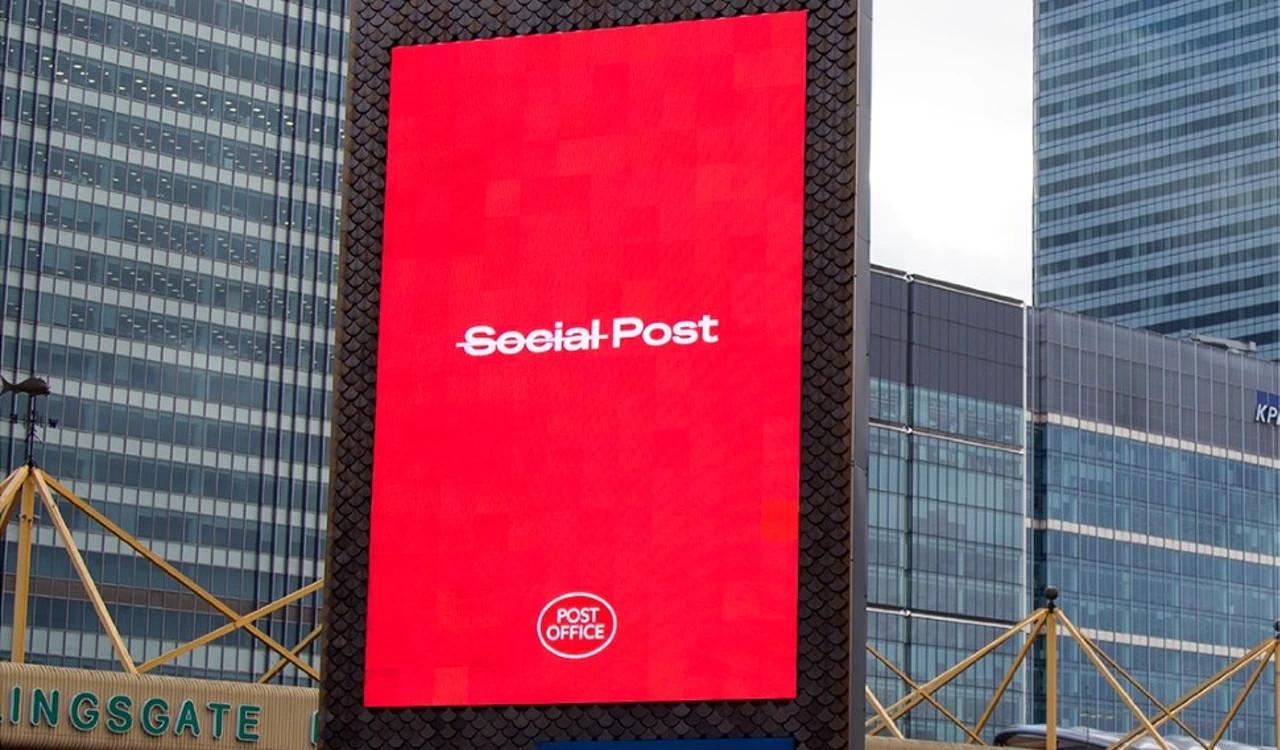 Post statt Social Post - Kampagne der britischen Post (Foto: UK Post Office)