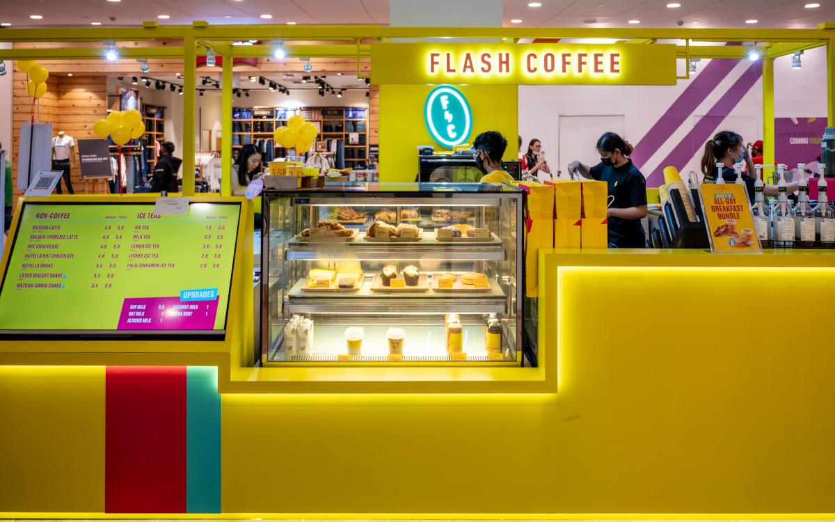 Digital Signage bei Flash Coffee in Singapore (Foto: Flash Coffee)
