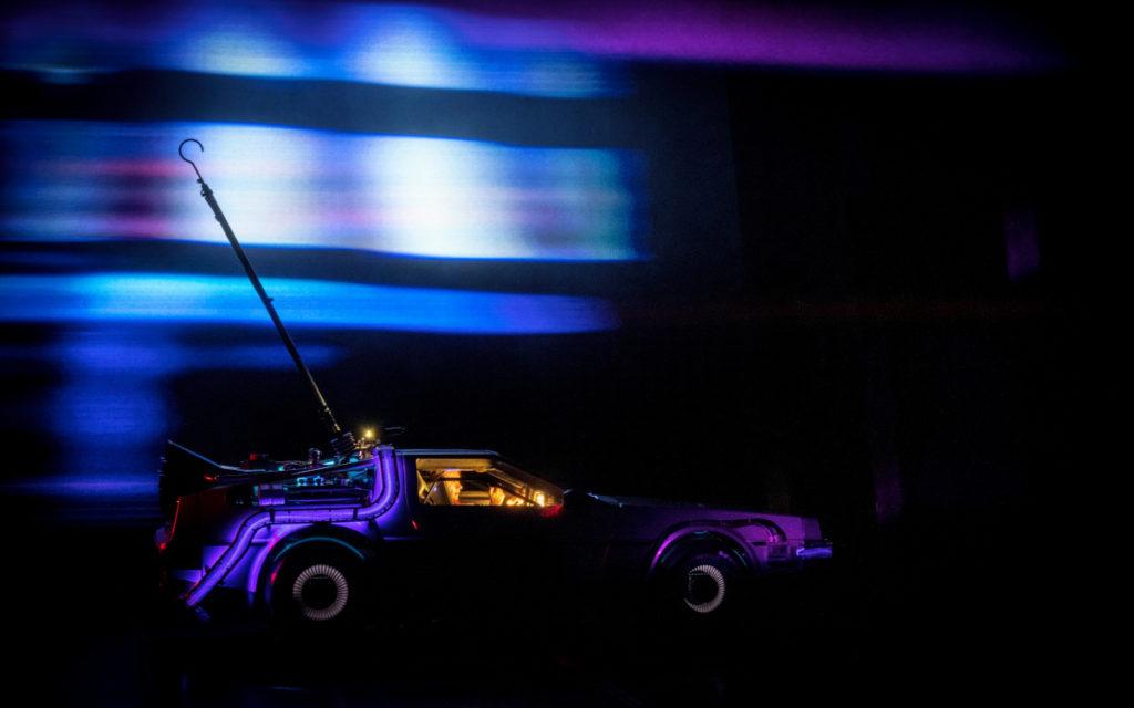 """Szene aus dem Musical """"Zurück in die Zukunft"""", das auch LED-Technologie einsetzt. (Foto: Sean Ebsworth)"""