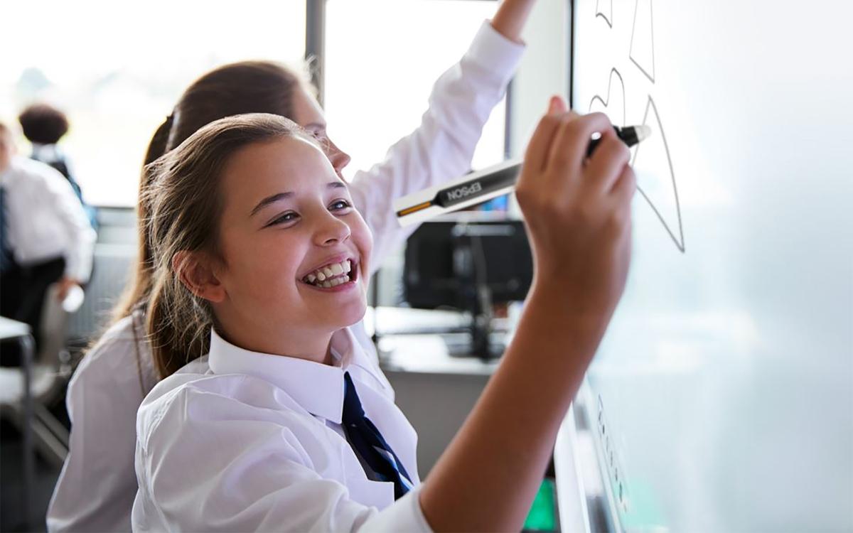 Die Go-Board Education-Software ermöglicht interaktives Lernen. (Foto: Epson)