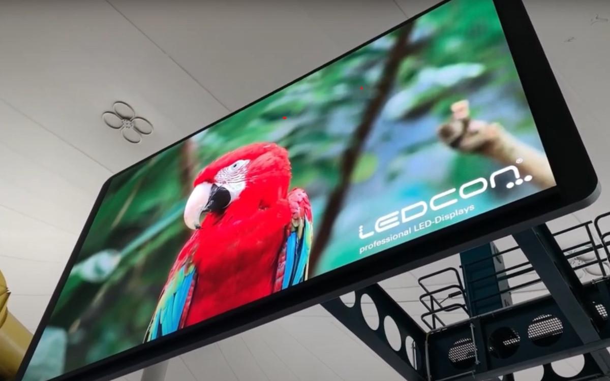 Ledcon installierte LED-Technologie in der Münchner Olympiahalle. (Foto: Ledcon/Screenshot)