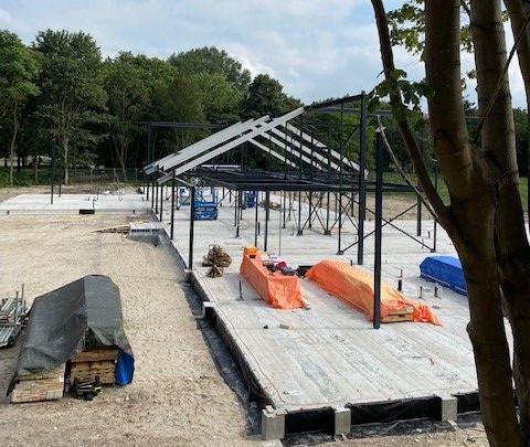 Das Jeroen Pit House im Bau (Foto: ISE)