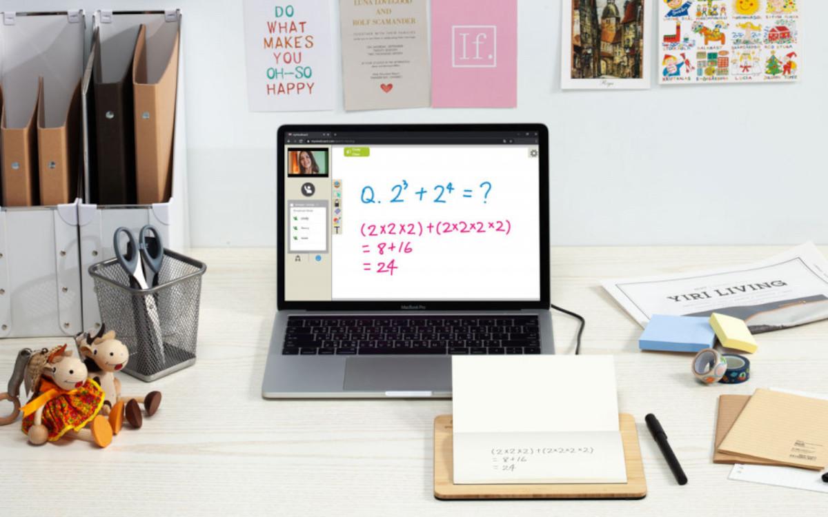 Das Wood Pad Paper übertragt die Handschrift vom Papier auf den Screen. (Foto: Viewsonic)