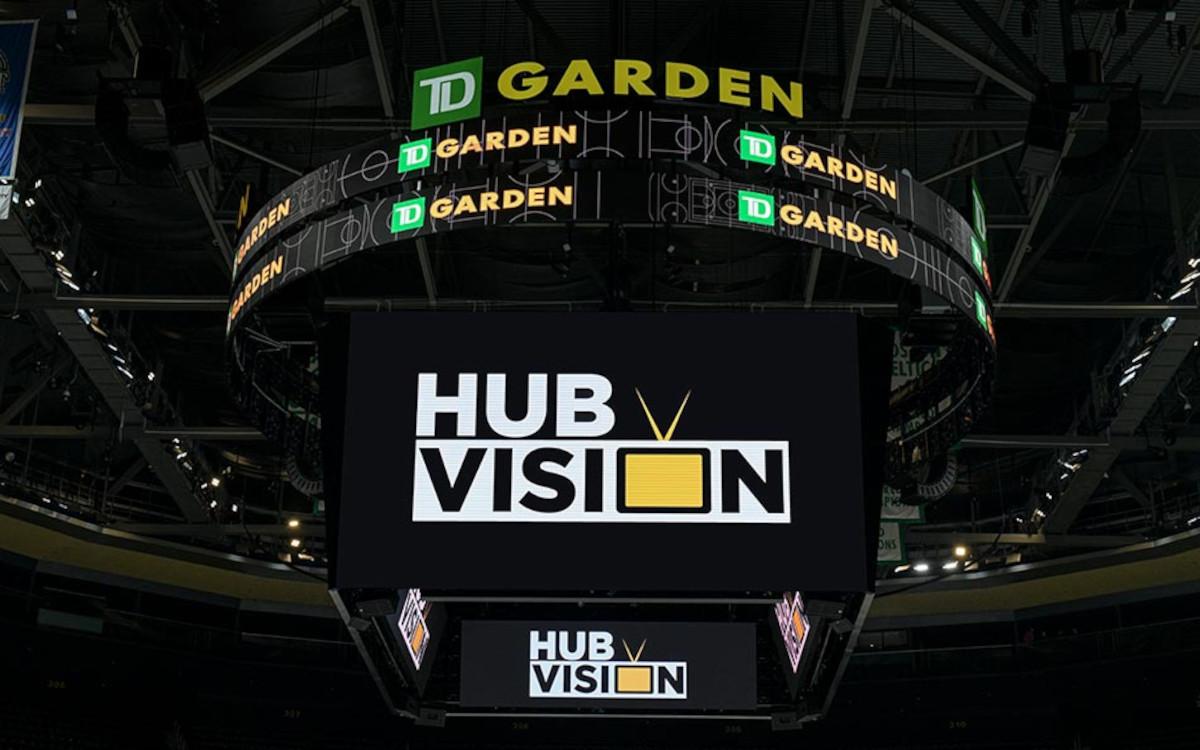 Der TD Garden in Boston vergrößerte seine zentrale Display-anzeige. (Foto: Daktronics)